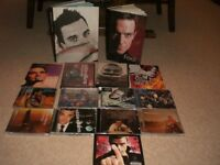 ROBBIE WILLIAMS - 2 BOOKS - 9 CDs and 4 DVDS