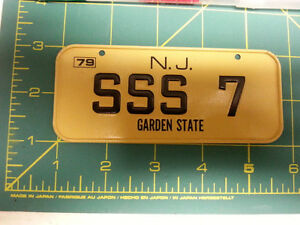 New Jersey Garden State 79 Bicycle Plate Sss 7 Metal