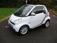 SMART FORTWO CABRIO 1.0 PASSION 2d AUTO 70 BHP (silver) 2008