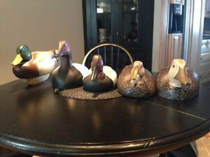 Hand carved decoys