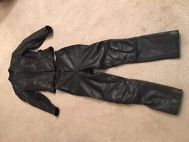 Ladies Hein Gericke Fitted Motorcycle Leather Suit