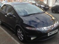 Black Honda Civic Sport I-CTDI in very good condition with just 61,000 miles on the clock
