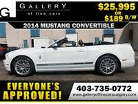 2014 Ford Mustang V6 CONV. $189 bi-weekly APPLY NOW DRIVE NOW