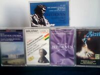 BACH BEETHOVEN BERLIOZ BIZET CLASSICAL PRERECORDED CASSETTE TAPES. SEE ALSO BATCHES 5, 6, 20, 22.