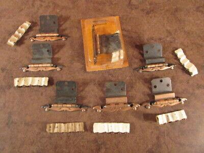 NOS Set of 4 pairs of 7738 Vintage Amerock Hinges Kitchen Cabinet ornate 2