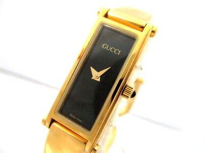 Auth GUCCI 1500 Gold Black Women