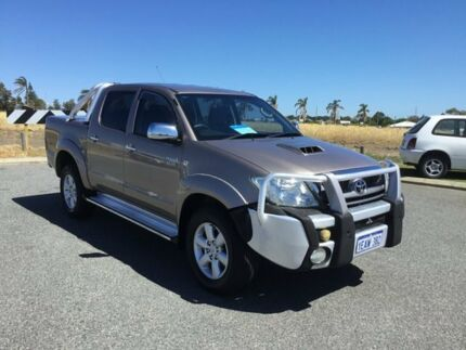 2011 Toyota Hilux KUN26R MY12 SR5 (4x4) Gold 4 Speed Automatic Dual Cab Pick-up Wangara Wanneroo Area Preview