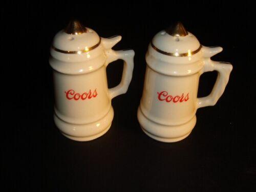 Coors Salt & Pepper Ceramic Stein Set – FREE SHIPPING!