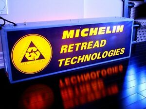 1970s MICHELIN RETREAD 2 sided LIGHT UP advertising WORKS Oakville / Halton Region Toronto (GTA) image 2