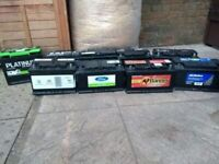 Car&van batteries tested with a battery tester