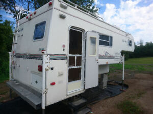 Slide-In Truck Camper With 2002 Chevrolet Silverado 3500