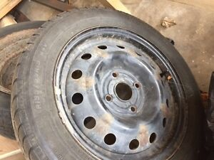 195 / 55R15 winter tires on 4 bolt rims of a Chevy Optra