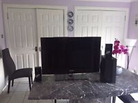 Samsung 37 flat screen LCD TV with Samsung Sound speakers and Sub woofer