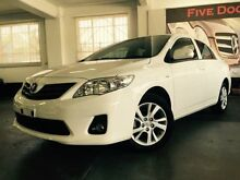 2013 Toyota Corolla ZRE152R MY11 Ascent Sport White 4 Speed Automatic Sedan Five Dock Canada Bay Area Preview