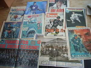 1993 TORONTO MAPLE LEAFS NEWSPAPER SCRAPBOOK COLLECTION VARIOUS Cambridge Kitchener Area image 1