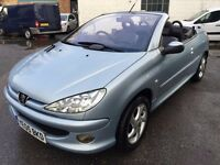 2005 Peugeot 206cc / convertible, starts and drives well, MOT until 17th July, leather interior, ele
