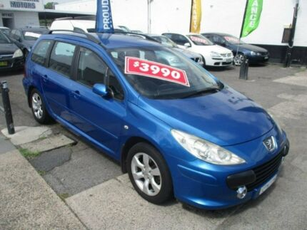 2005 Peugeot 307 T6 MY06 XS Blue 5 Speed Manual Hatchback Broadmeadow Newcastle Area Preview