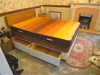Double bed with 4 drawers and Slumberland Wooden Headboard