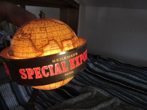 SPECIAL EXPORT BEER SIGN MOTION SPINNING OLD WORLD MAP GLOBE LIGHT REC ROOM BAR