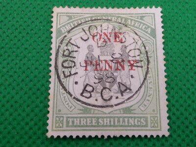 NYASALAND , B.C.A , 3/- , 1D SURCHARGE , SG53 , 1897   (S1226)