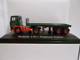 Oxford Diecast Eddie Stobart Scania 110 Flatbed Trailer - 1:76 Scale
