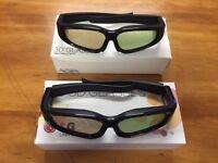 2 pairs LG AG-S100 3D Active Shutter Glasses