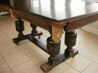 EJ Riley 5ft Antique Snooker/Dining Table
