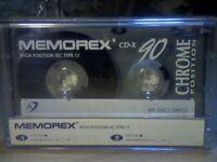 MEMOREX CD-X 90 PREMIUM CHROME CASSETTE TAPES (1995-1996). VERY, VERY RARE.