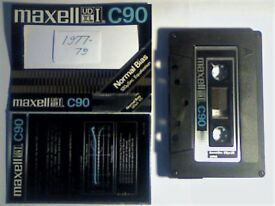 MAXELL UDXL I 90 CASSETTE TAPES. 1977-1979. SILVER LIVERY. VERY RARE. AVAILABLE IN VARIOUS LENGTHS.