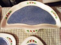 Soho Ware Sandwich or Tea Set Fabulous Looking Perfect condition. Much Better Than Pictures