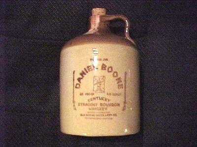 Vintage Daniel Boone Crock Jug USA Kentucky Straight Bourbon Cork 4/5 Quart H252