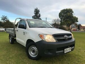 2006 Toyota Hilux TGN16R MY05 Workmate White 5 Speed Manual Cab Chassis Somerton Park Holdfast Bay Preview