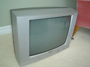 2 older model TVs