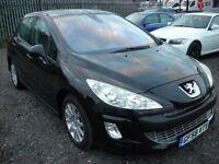 PEUGEOT 308 1.6 SE 5d 118 BHP (black) 2008