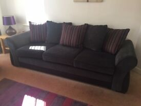 Large 3 Seater Sofa & Snuggle Chair
