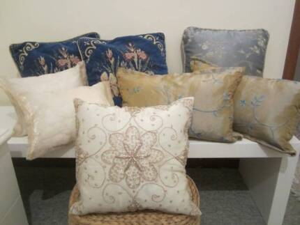 Cushion Set- Blue/ Gold/ Cream- EX DISPLAY HOME Riverton Canning Area Preview