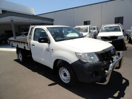 2012 Toyota Hilux TGN16R MY12 Workmate 4x2 White 5 Speed Manual Cab Chassis West Ballina Ballina Area Preview