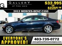 2012 Mercedes C350 4Matic $229 bi-weekly APPLY NOW DRIVE NOW