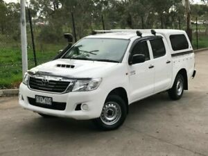 2013 Toyota Hilux KUN16R MY12 SR Double Cab 4x2 White 5 Speed Manual Utility Mill Park Whittlesea Area Preview