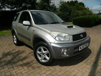 2002 52 Toyota RAV4 2.0 D-4D NRG 3dr WITH FSH+NEW CLUTCH AND FLYWHEEL