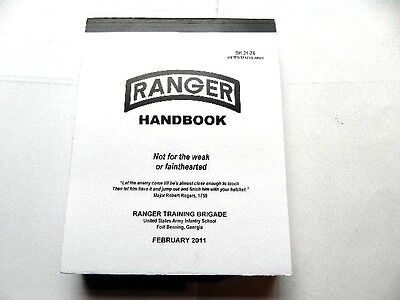 United States Army Ranger Handbook 2011 SH21-76 Not For The Weak / Fainthearted
