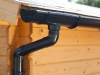 Plastic guttering kit for shed roof | Available in brown, grey, black, anthracite and white