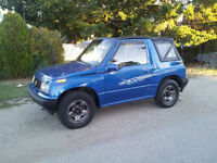 Chevrolet Tracker sidekick geo sunrunner