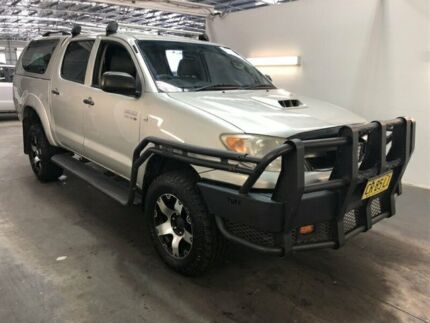 2008 Toyota Hilux KUN26R 07 Upgrade SR (4x4) Silver 4 Speed Automatic Dual Cab Pick-up Beresfield Newcastle Area Preview