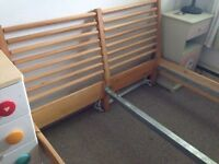 IKEA WOODEN BED FRAME