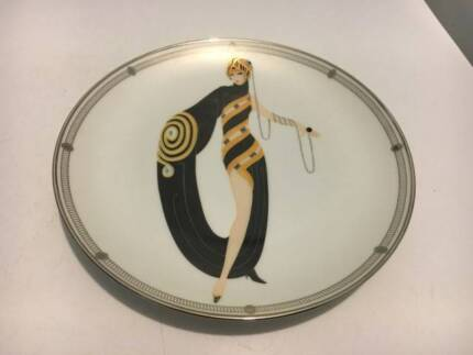 franklin mint house of erte pearls and emeralds plate