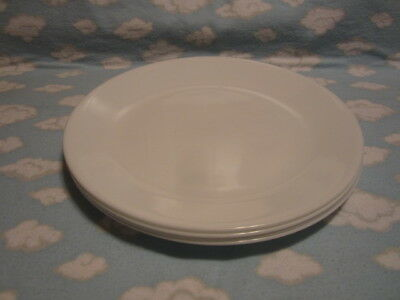 CORELLE/CORNING=WINTER FROST WHITE DINNER PLATES=SET OF 4=ALL TO GO ONE PRICE !!