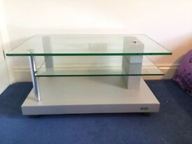 TV stand, clear glass