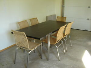 IKEA DINING ROOM TABLE AND CHAIRS