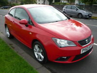 SEAT Ibiza 1.4i 16V 85BHP TOCA SPORT SC **One Owner / Full Service History** (red) 2014